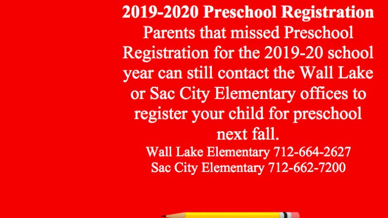 Preschool Registration 2019-20